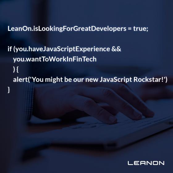 javascript utvecklare leanon